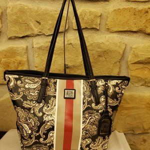 Anne Klein Perfect Paisley Stripe Tote